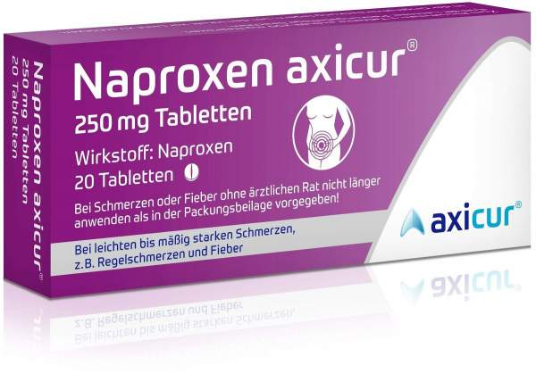 Naproxen axicur 250 mg 20 Tabletten