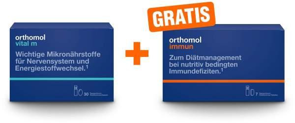 Orthomol Vital M 30 Trinkfläschchen + gratis Orthomol Immun 7 Trinkfläschchen