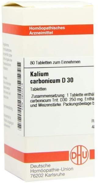 Kalium Carbonicum D 30 80 Tabletten