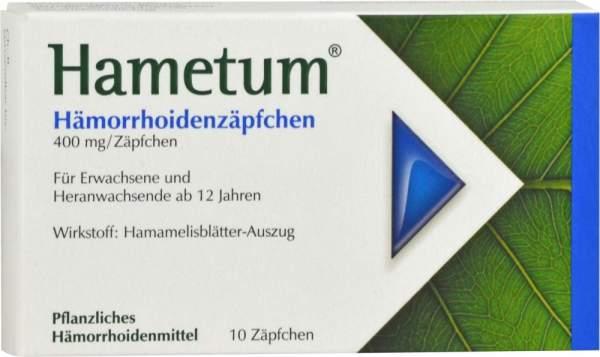 Hametum Hämorrhoidenzäpfchen 10 Stück