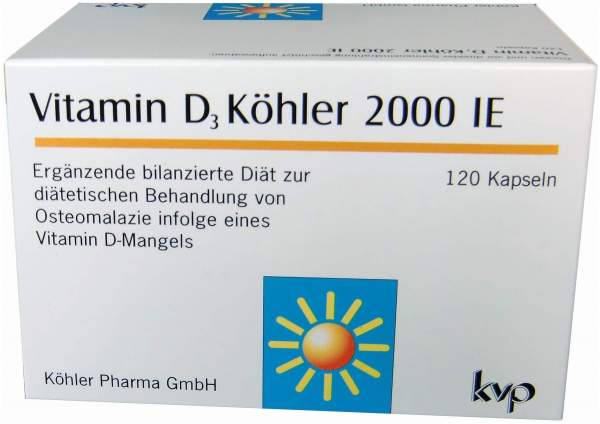 Vitamin D3 Köhler 2000 I.E 120 Kapseln