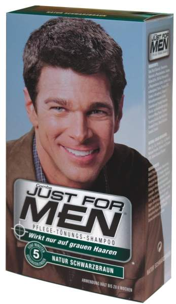 Just For Men Tönungsshampoo Natur Schwarzbraun