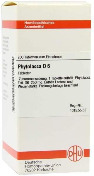 Phytolacca D6 200 Tabletten
