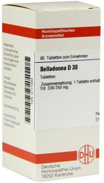 Belladonna D30 Tabletten 80 Tabletten