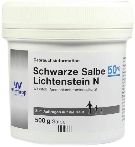 Schwarze Salbe 50% Lichtenstein N 500 G