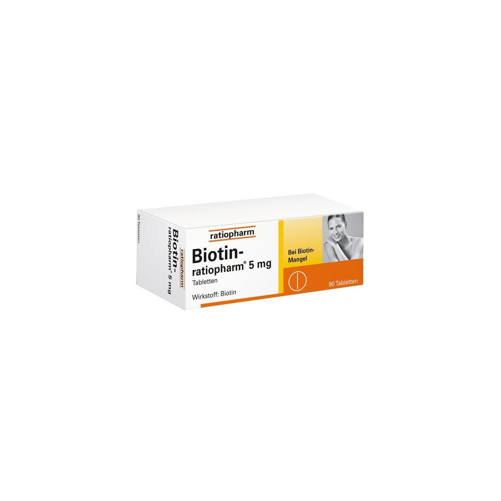 biotin ratiopharm 5 mg 90 tabletten bei volksversand. Black Bedroom Furniture Sets. Home Design Ideas