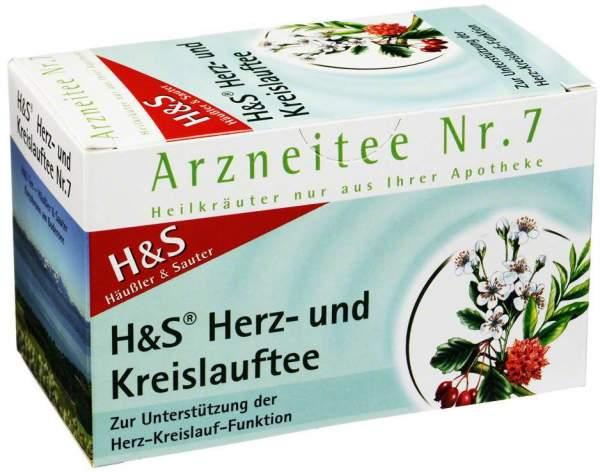 H&S Herz Kreislauf Tee Filterbeutel 20 Filterbeutel