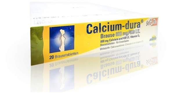 Calcium Dura Vit D3 Brause 600 mg 400 I.E. 120 Brausetabletten