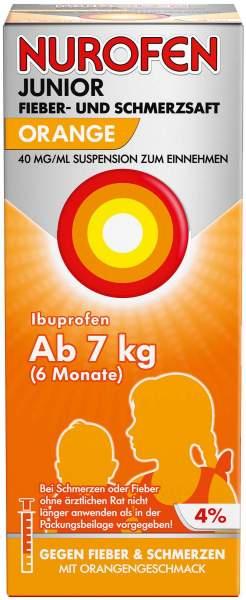 Nurofen Junior Fieber- & Schmerzsaft Orange 40 mg pro ml 100 ml Suspension