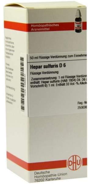 Hepar Sulfuris D 6 50 ml Dilution