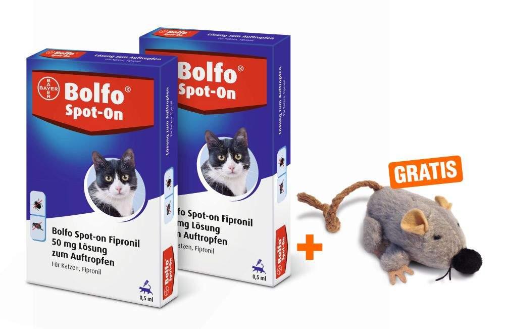 Bolfo Spot On für Katzen 2 x 3 Stück + gratis S...