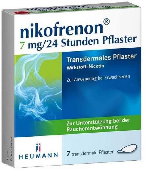 Nikofrenon 7 mg in 24 Stunden transdermale Pflaster 7 Stück