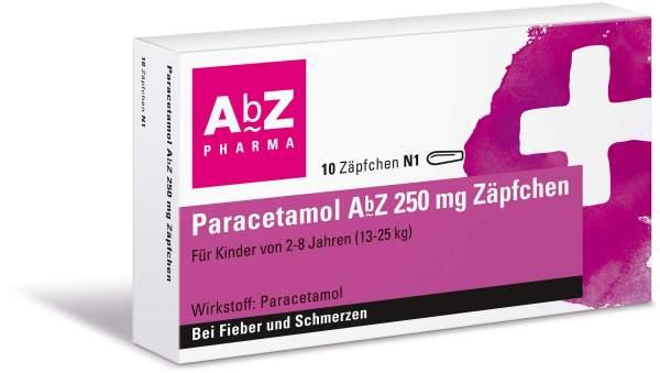 Paracetamol Abz 250 mg 10 Zäpfchen