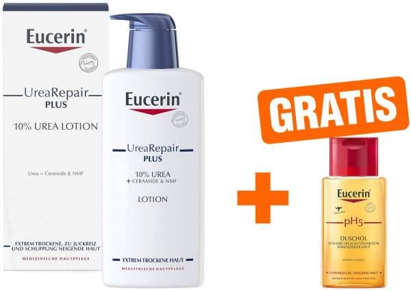 Eucerin UreaRepair Plus Lotion 10% 400 ml + gratis pH 5 Duschöl 100 ml