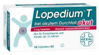 Lopedium T akut bei akutem Durchfall 10 Tabletten
