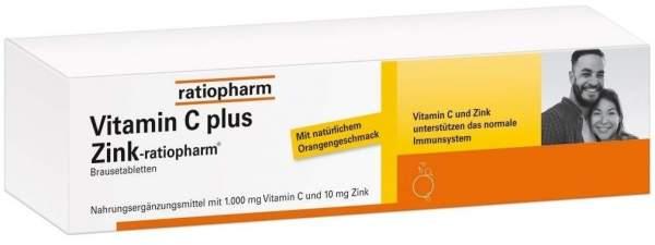 Vitamin C plus Zink-ratiopharm 40 Brausetabletten