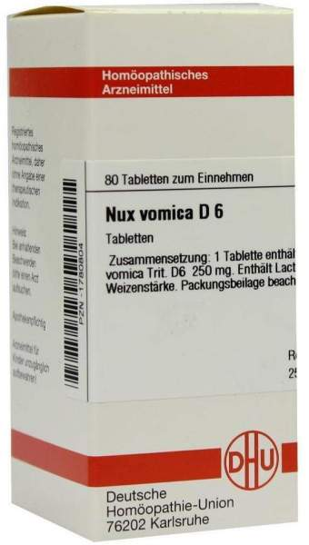 Nux Vomica D6 80 Tabletten