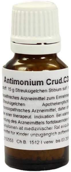 Antimonium Crudum C 30 Globuli