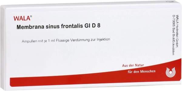 Wala Membrana Ssinus Frontalis Gl D8 10x1ml Ampullen