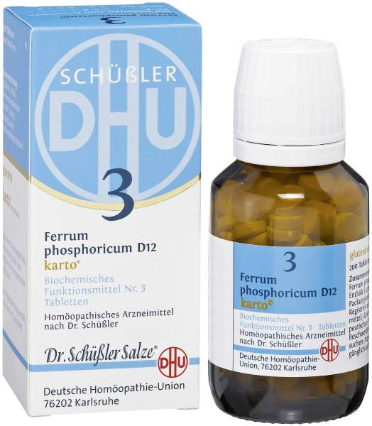 Biochemie Dhu3 Ferrum Phosphoricum D12 K 200 Tabletten