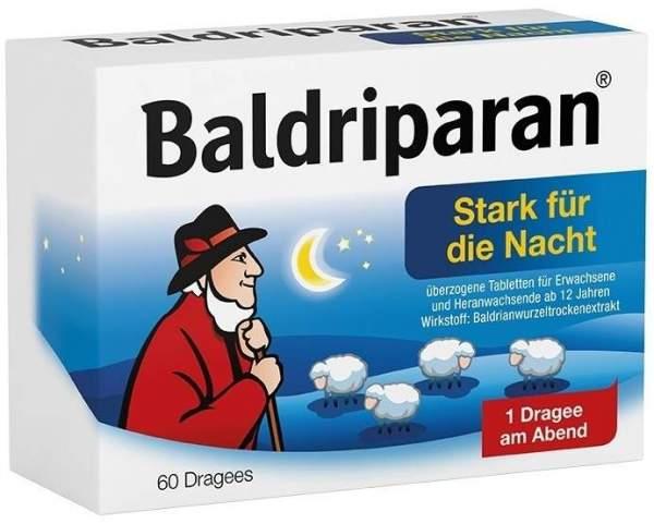 Baldriparan Stark für die Nacht 60 überzogene Tabletten