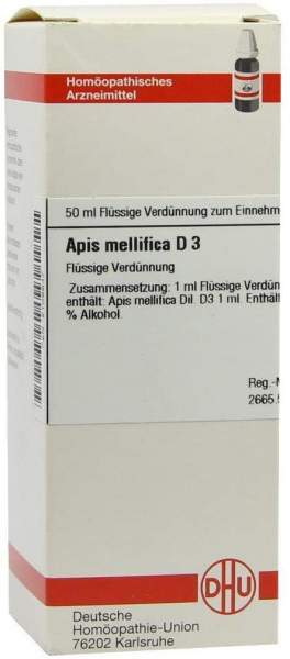 Apis Mellifica D3 Dhu 50 ml Dilution