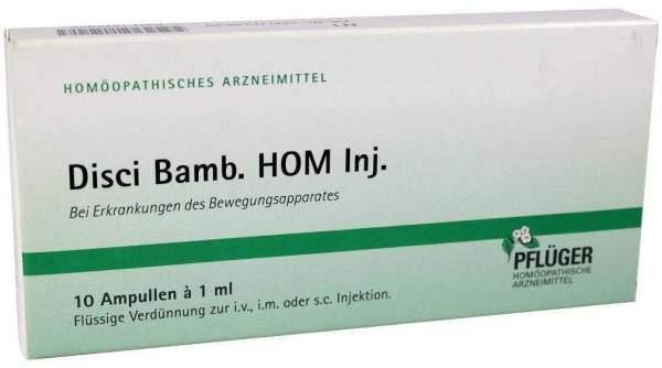 Pflüger Disci Bamb. Hom 10 X 1 ml Ampullen