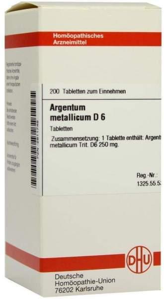 Argentum Metallicum D6 200 Tabletten