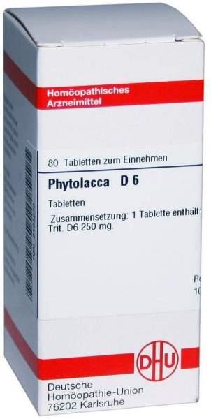 Phytolacca D6 80 Tabletten