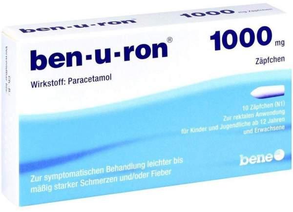 Ben U Ron 1000 mg Erwachsenensuppositorien 10 Stück
