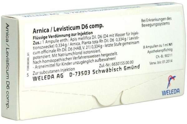 Arnica Levisticum comp. D 6 Weleda 8 x 1 ml Ampullen