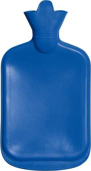 Wärmflasche 2 Liter, blau