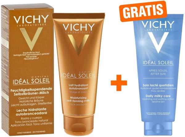 Vichy Ideal Soleil Selbstbräuner Milch für Gesicht und Körper 100 ml + gratis Après Milch 100 ml
