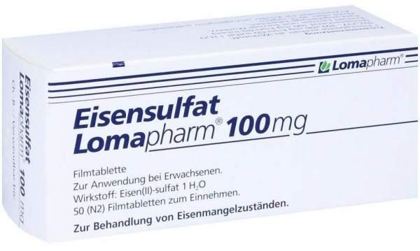 Eisensulfat Lomapharm 100 mg 50 Filmtabletten