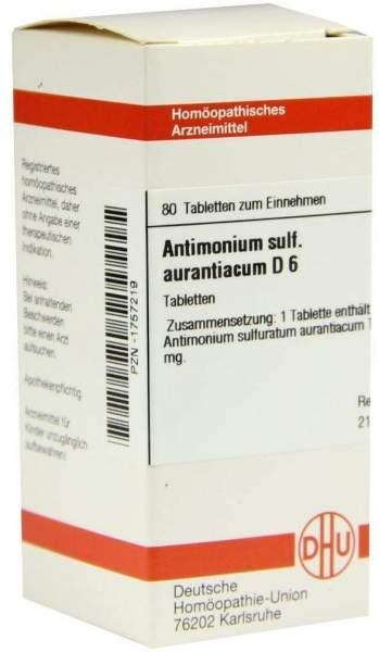 Dhu Antimonium Sulfuratum Aurantiacum D6 80 Tabletten