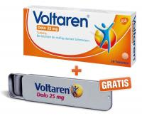 Voltaren Dolo 25mg 20  Überzogene Tabletten + Gratis Pillendose