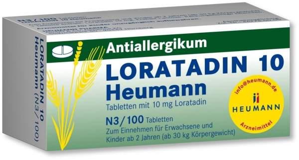 Loratadin 10 Heumann 100 Tabletten