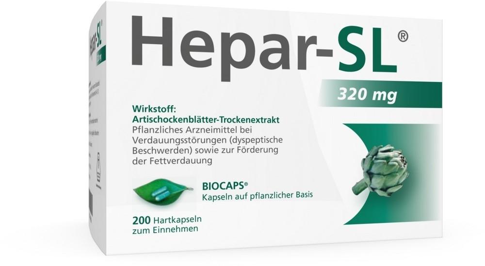 MCM KLOSTERFRAU Vertriebsge HEPAR SL 320 mg Hartkapseln - 200 Kapseln