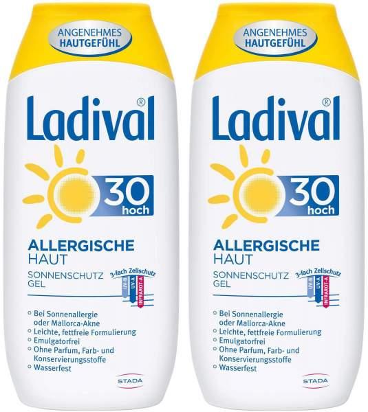 Ladival Sonnenschutz Gel Allergische Haut LSF 30 2 x 200 ml Gel