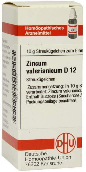 Zincum Valerianicum D12 10 G Globuli