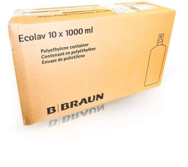 Aqua B.Braun Spüllösung Ecolav 10 X 1000 ml