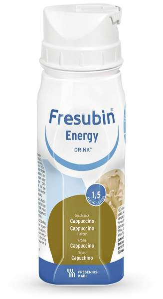 Fresubin Energy Drink Cappuccino 4 X 200 ml Trinkflaschen
