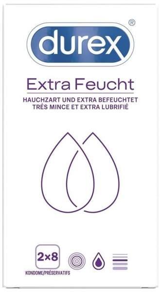 Durex extra feucht Kondome Doppelpack 2 x 8 Stück