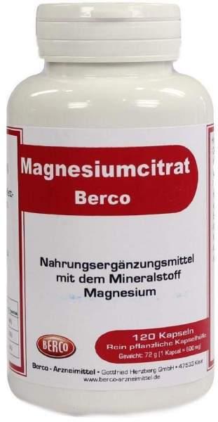 Magnesiumcitrat Berco 120 Kapseln