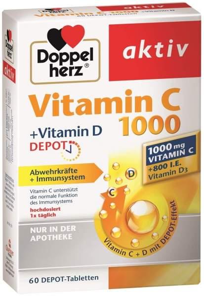 Doppelherz aktiv Vitamin C 1000 mg + Vitamin D3 800 I.E. 60 Tabletten