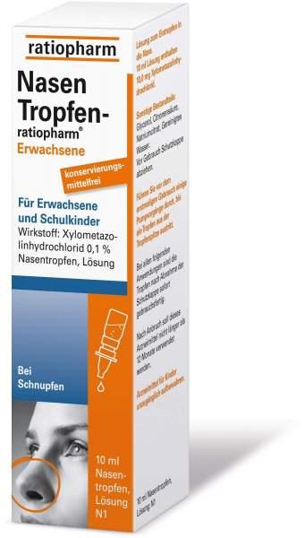 NasenTropfen ratiopharm Erwachsene 10 ml