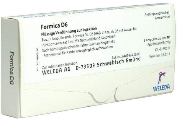 Weleda Formica D6 8 X 1 ml Ampullen