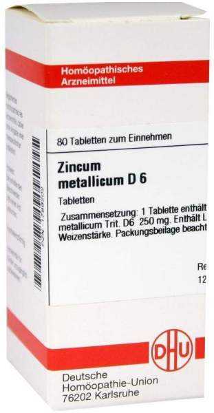 Zincum Metallicum D 6 80 Tabletten