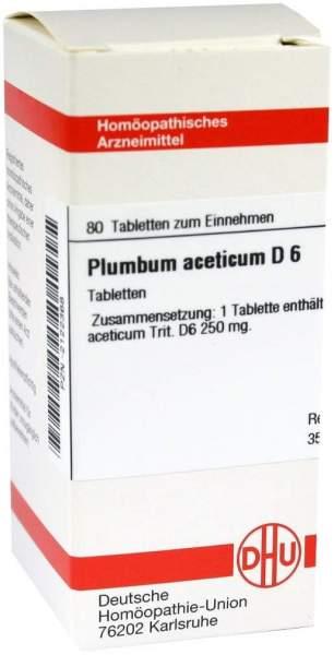 Plumbum Aceticum D6 80 Tabletten