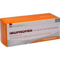 Ibuprofen Hemopharm 400 mg 50 Filmtabletten